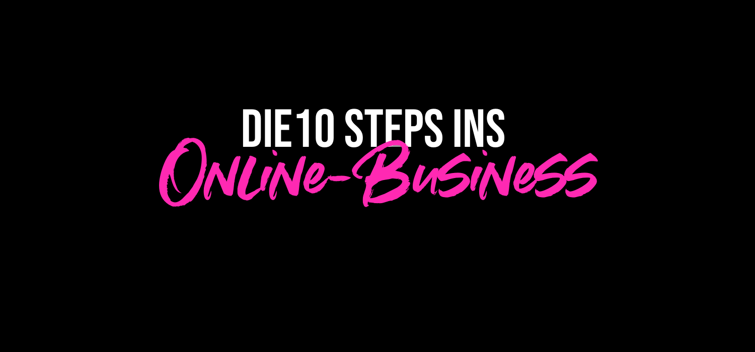 10 stpes ins onlinebusiness