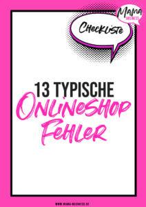 13 typische Onlineshop Fehler