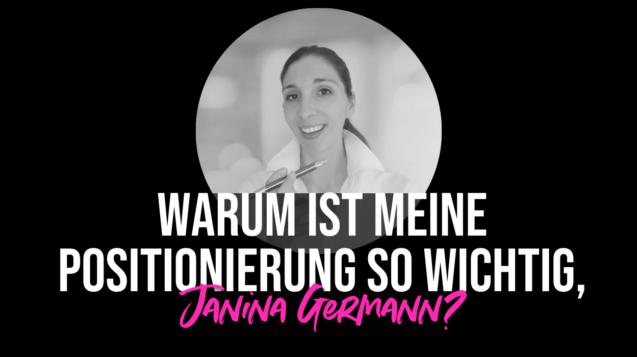 Positionierung Janina Germann