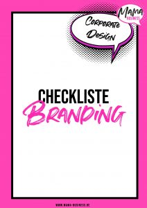 Checkliste Branding Mama Business