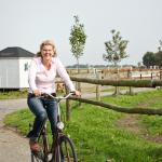 Petra Rolfs auf dem Fahrrad