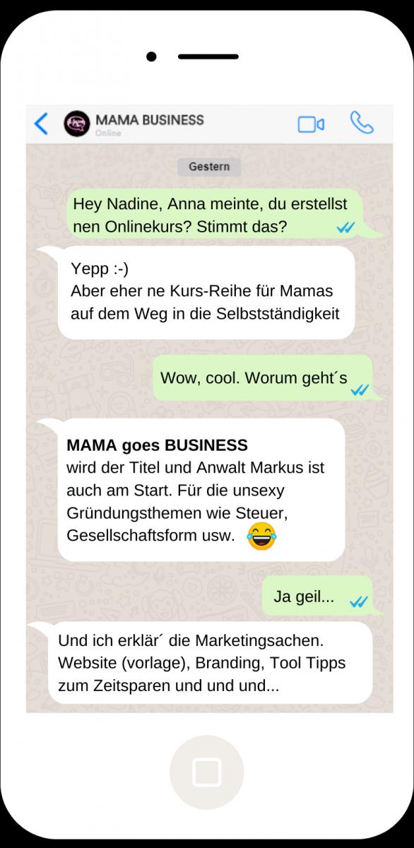 Onlinekurse MAMA BUSINESS