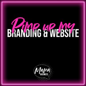 mama business pimp up may website branding