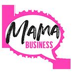 MAMA BUSINESS Logo Punkte weiß