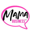 mama business logo weisse punkte