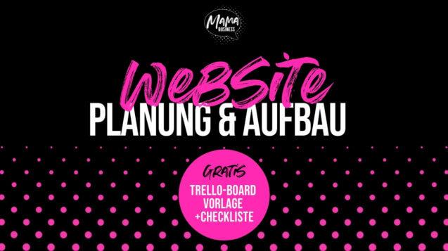 Aufbau und Planung Website