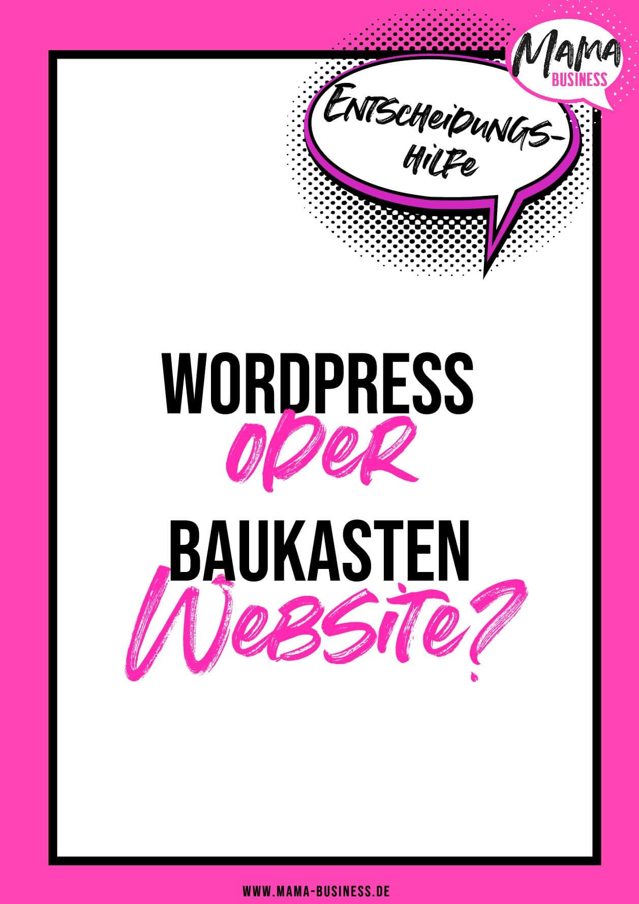 WordPress oder Baukasten