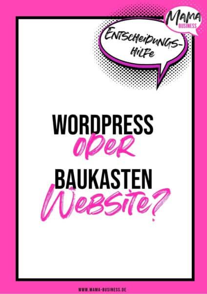 WordPress vs Baukasten